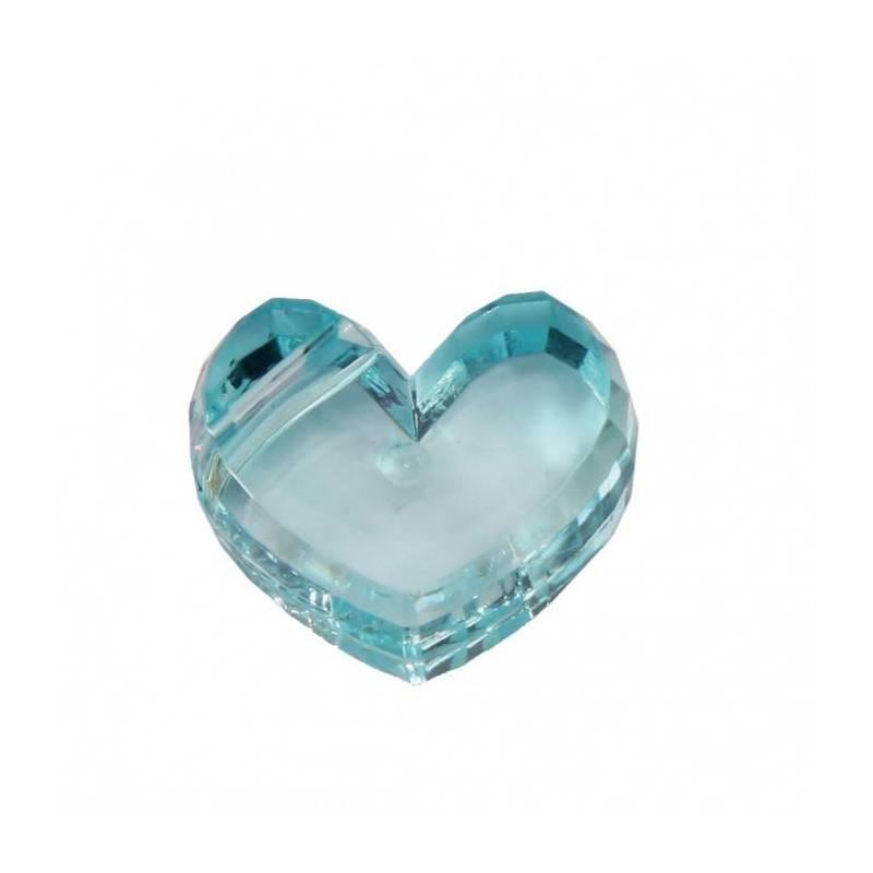 Bijoux coeur turquoise 2,5h1,5cm