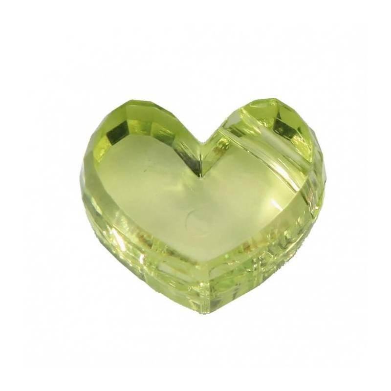 Bijoux coeur vert 2,5h1,5cm