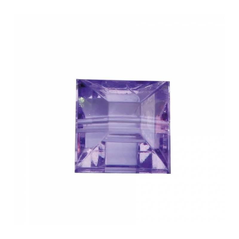 Bijoux carre diamant lilas n°1 0,8x0,8cm