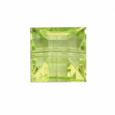 Bijoux carre diamant vert n°2 1,2x1,2cm