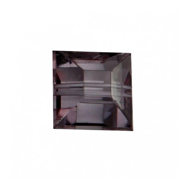 Bijoux carre diamant gris n°2 1,2x1,2cm