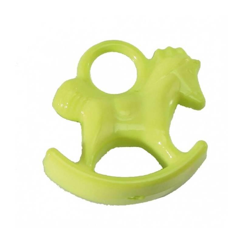 Bijoux cheval a bascule vert h2,5cm