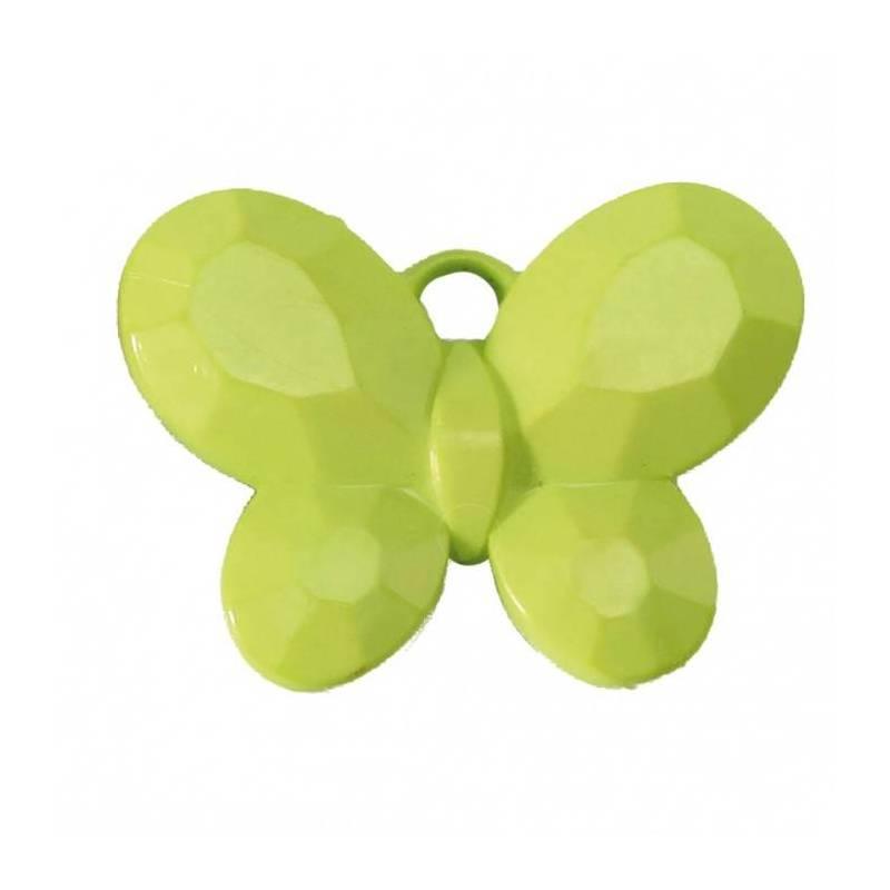 Bijoux papillon vert 3x2,5cm