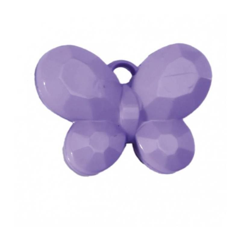 Bijoux papillon lilas 3x2,5cm