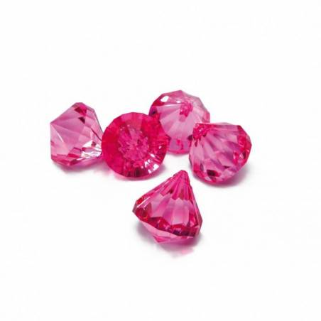 Bijoux diamant fuchsia n°1 h2,5cm