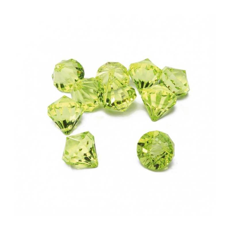 Bijoux diamant vert n°1 h2,5cm