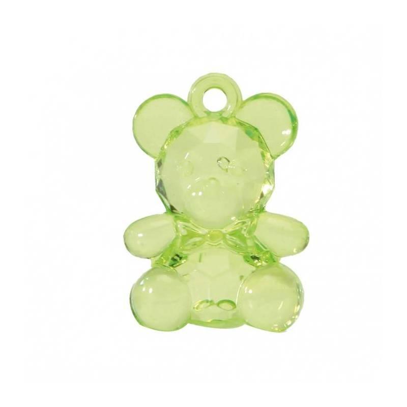 Bijoux ourson vert n°1 h3,4cm