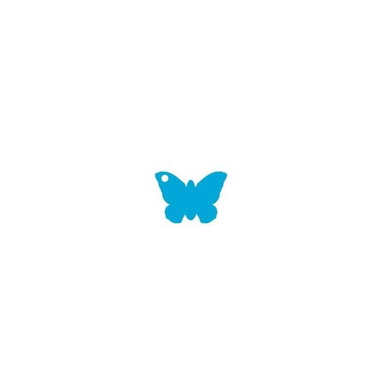 25 nominettes papillon turquoise 4x3cm