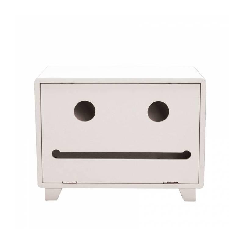Armoire urne robot blanche 30x20h22cm