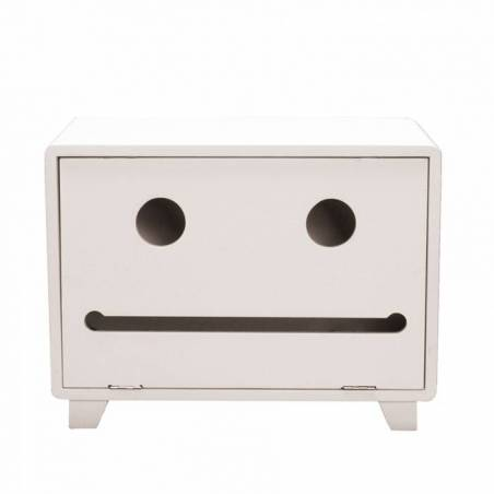 Armoire urne robot blanche 30x20h22cm