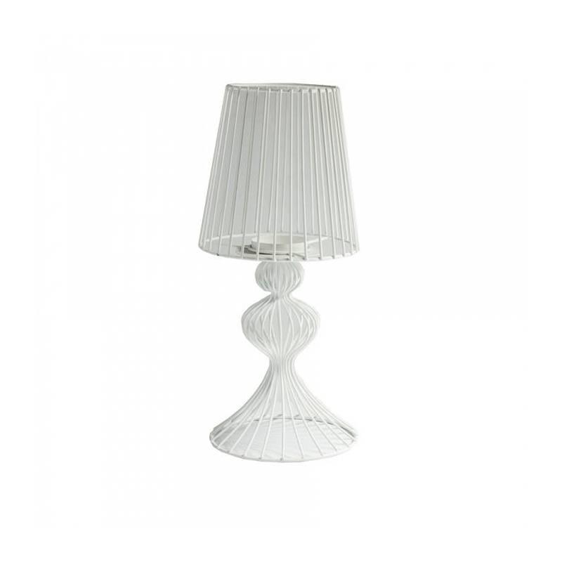 Presentoir lampe chevet blc d15h34cm 50%