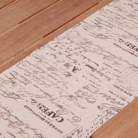 Chemin de table lin imprime 30cmx3mt