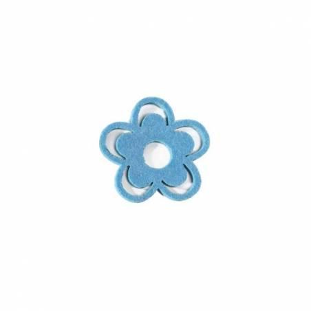 Capucine feutrine bleue d7,5cm