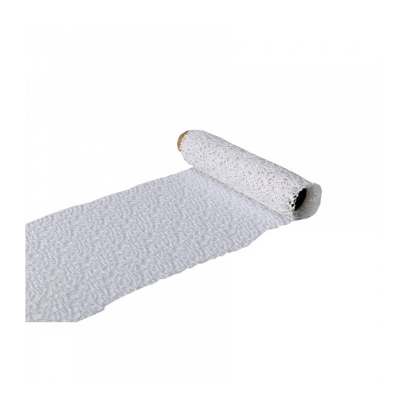 Chemin de table macrame blanc 26cmx3mt