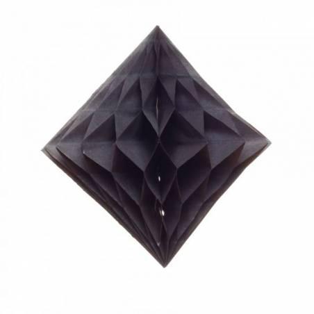 Diamant crepon noir s/3 d20/30/40cm