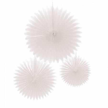 Crepon plat blanc s/3 d13/18/24cm