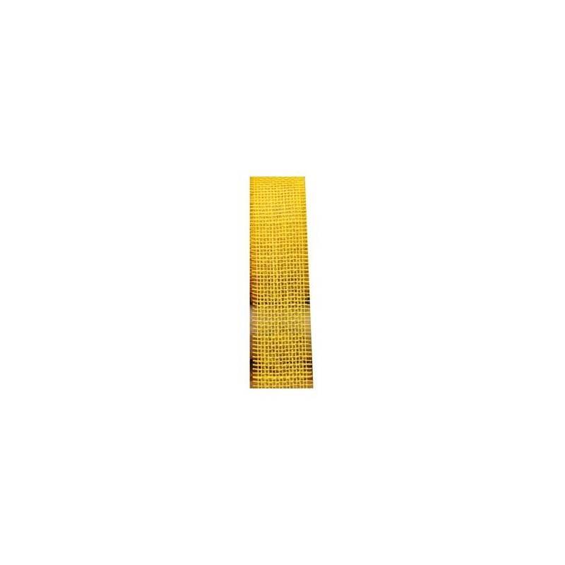 Ruban jute jaune 50mmx25mt