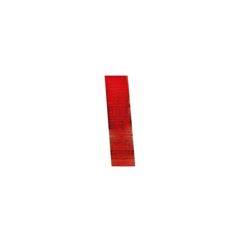 Ruban jute rouge 50mmx25mt