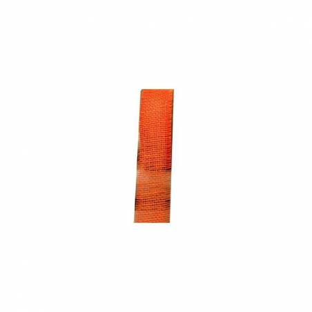 Ruban jute orange 50mmx25mt