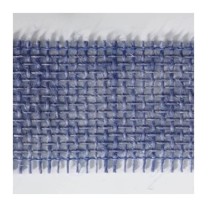 Ruban jute bleu 50mmx25mt