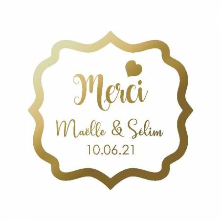 "Stickers baroque p.""Merci"" 40pcs 4,2x4,4cm"