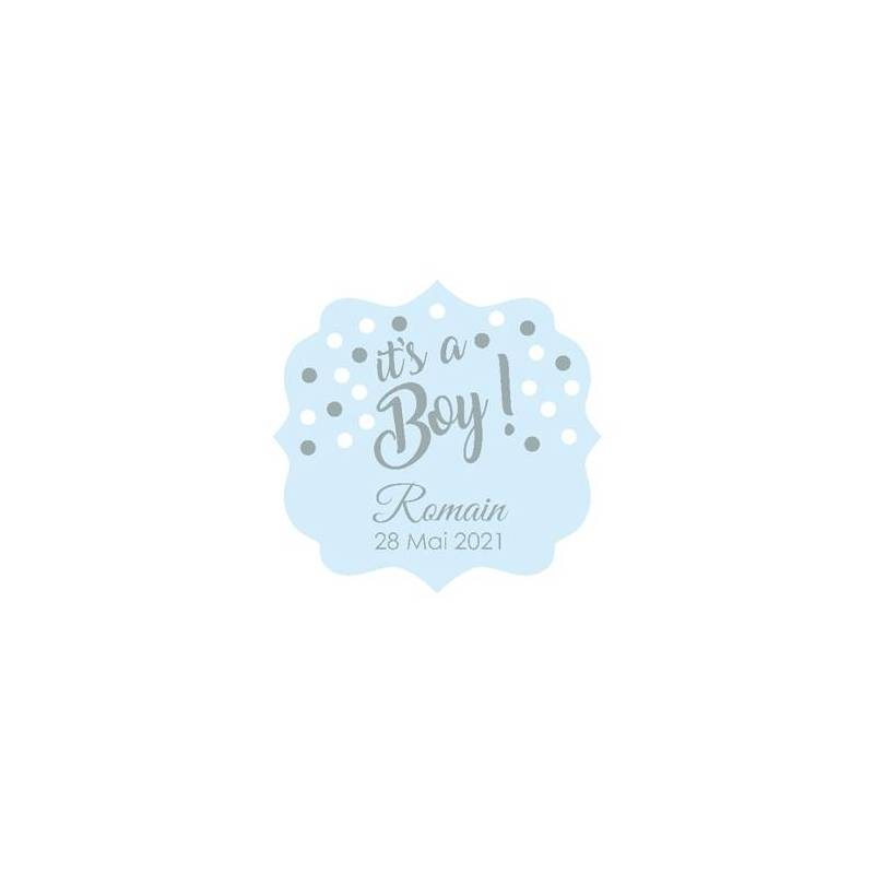 "Stickers p.""it's a boy ! ""40pcs 4,4x4,2cm"