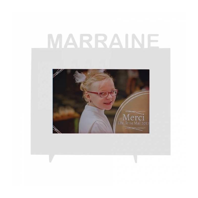 """Cadre gris """"Marraine"""" 21,5h18,5cm"""