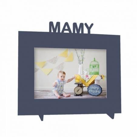 "Cadre gris ""Mamy"" 21,5h18,5cm"