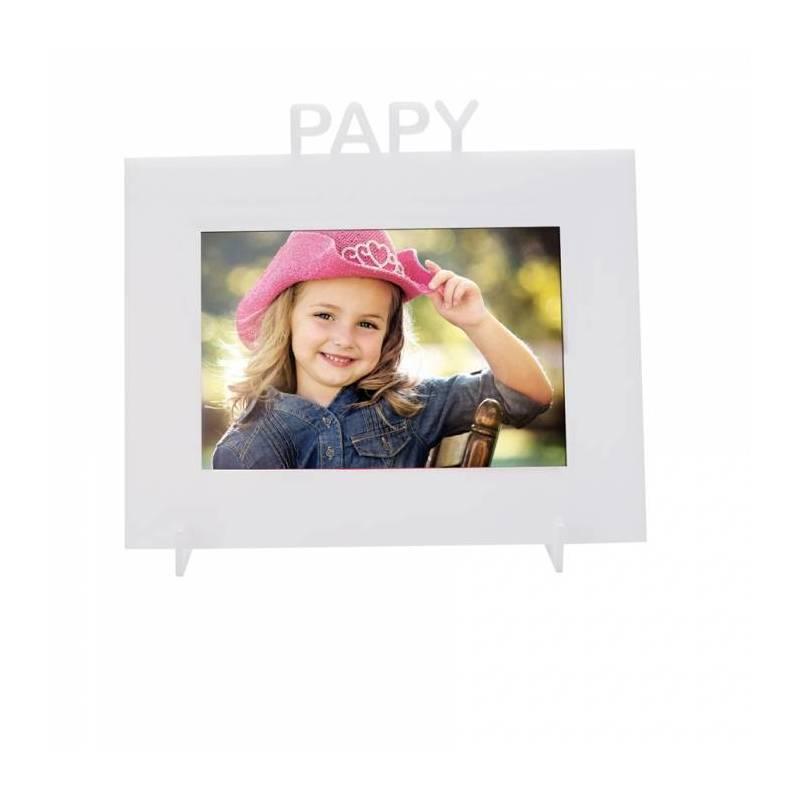 "Cadre blanc ""Papy"" 21,5h18,5cm"