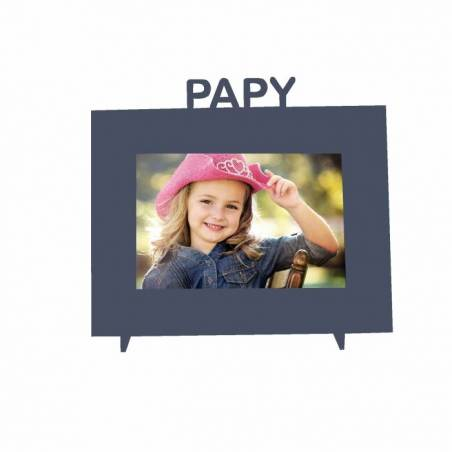"""Cadre gris """"Papy"""" 21,5h18,5cm"""