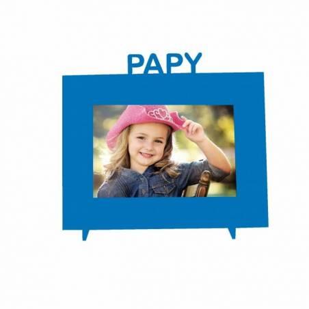 """Cadre bleu """"Papy"""" 21,5h18,5cm"""