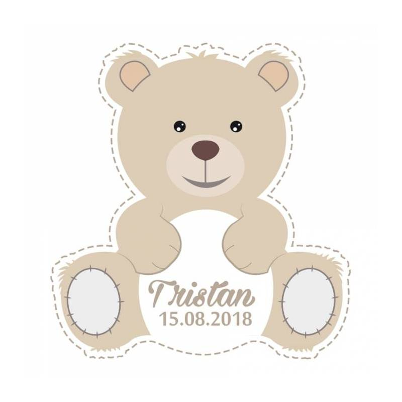 "Stickers p.""ourson"" 40pcs 3,3x3,5cm"