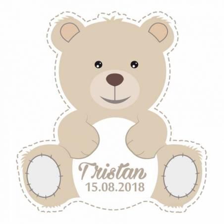 """Stickers p.""""ourson"""" 40pcs 3,3x3,5cm"""