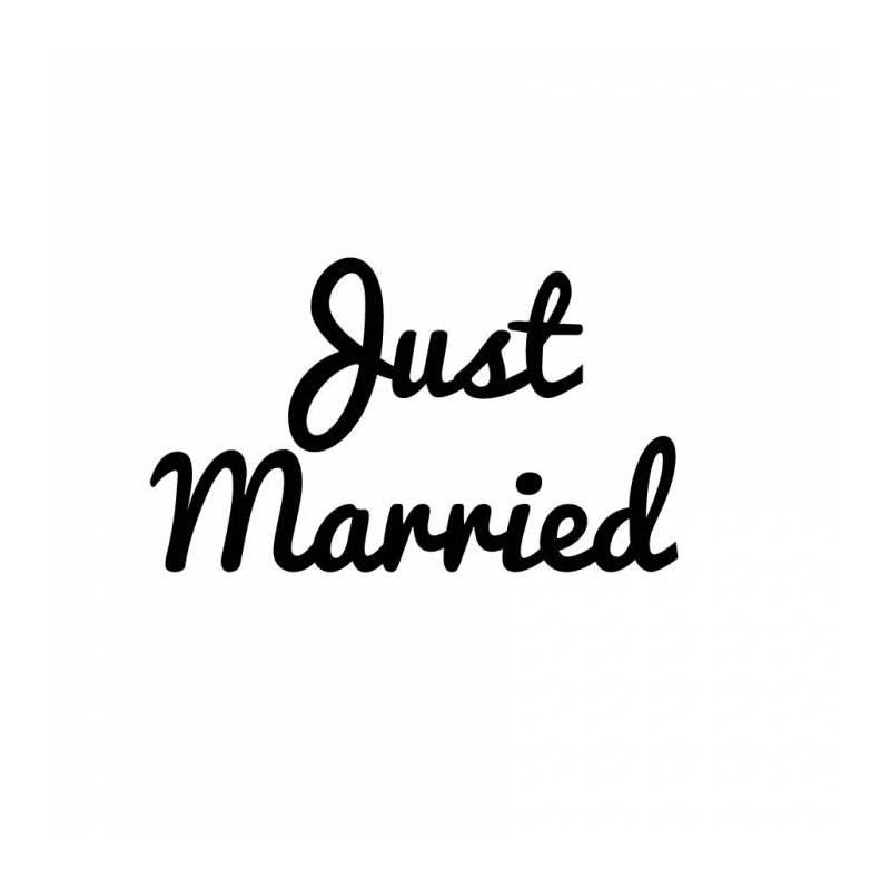 "Stickers ech.noir .np.""Just married""20pcs 6,5cm"