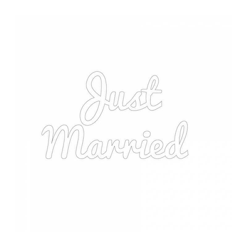 "Stickers ech.blanc .np.""Just married""20pcs 6,5cm"
