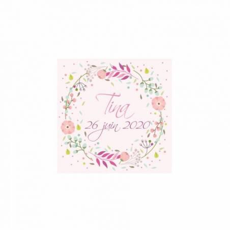 Stickers p.couronne florale 40pcs 3,8cm