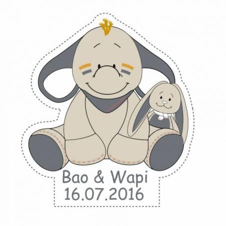 Stickers p.bao & wapi 40pcs 3,9x4cm