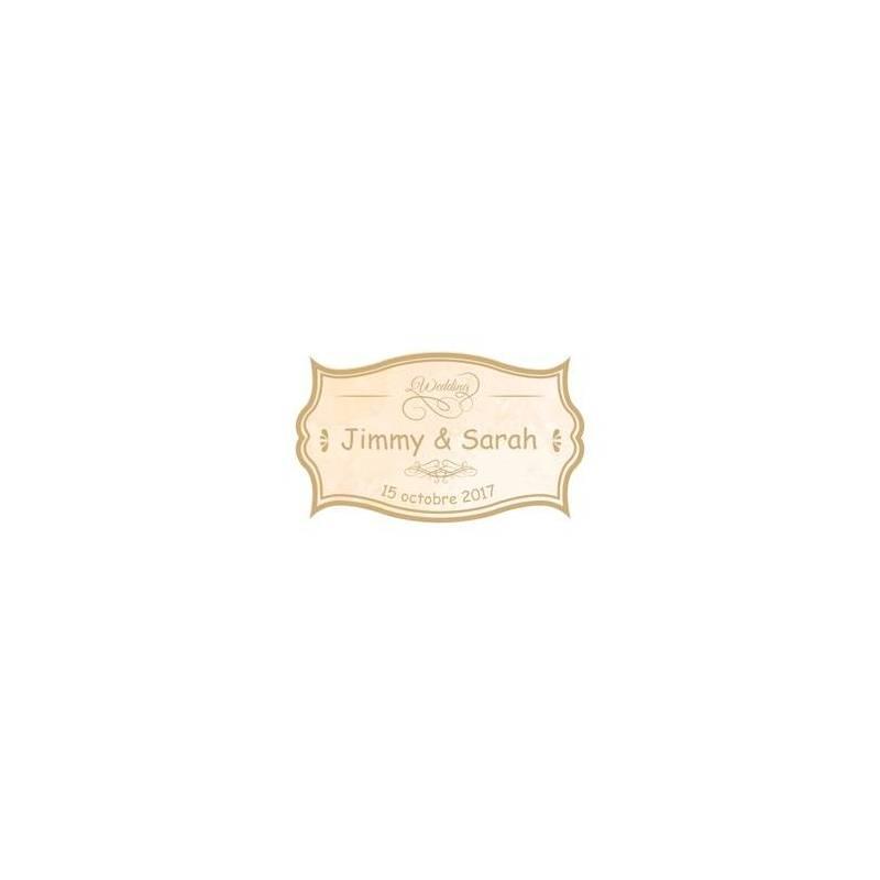 "Stickers p.""Vintage beige wedding""40pcs 4x2,4cm"