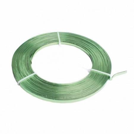 Fil de fer plat vert 5mmx3mt
