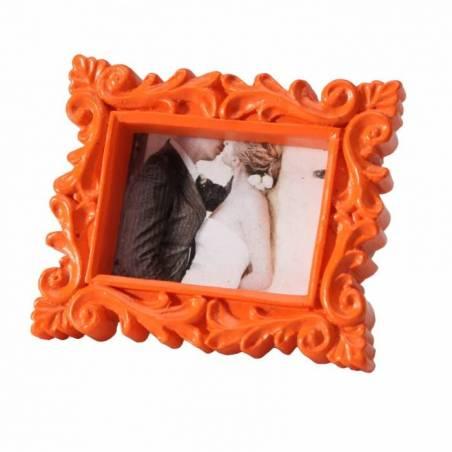 Cadre vintage orange 6x5cm