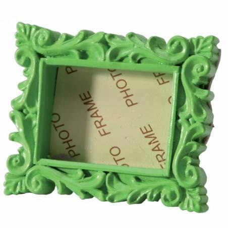 Cadre vintage vert 6x5cm