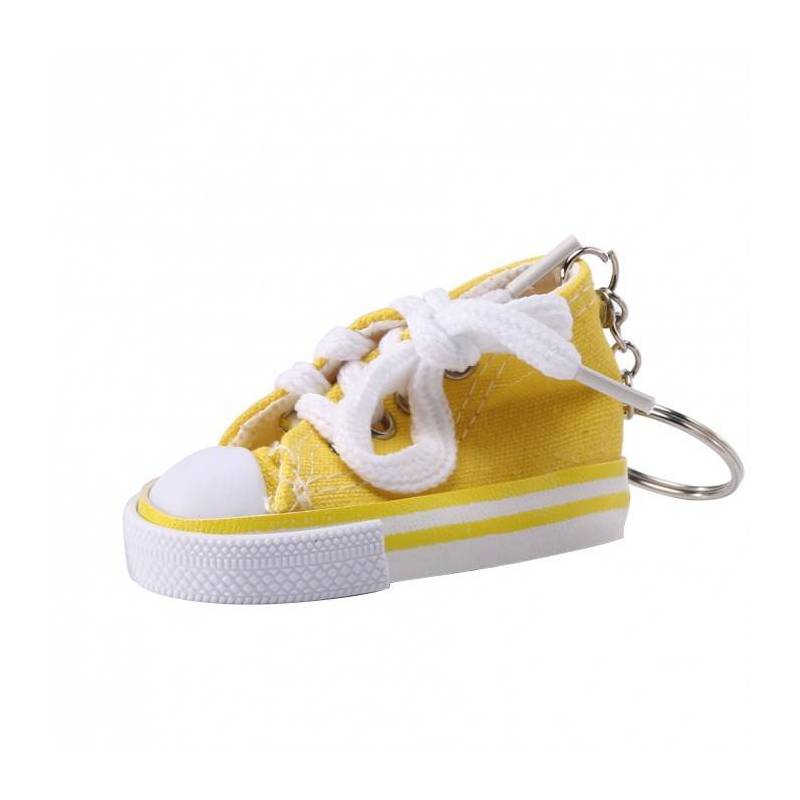 Basket porte-clefs jaune 7,5x3,5h4cm