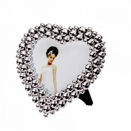 Cadre coeur contour argent 10h9,5cm