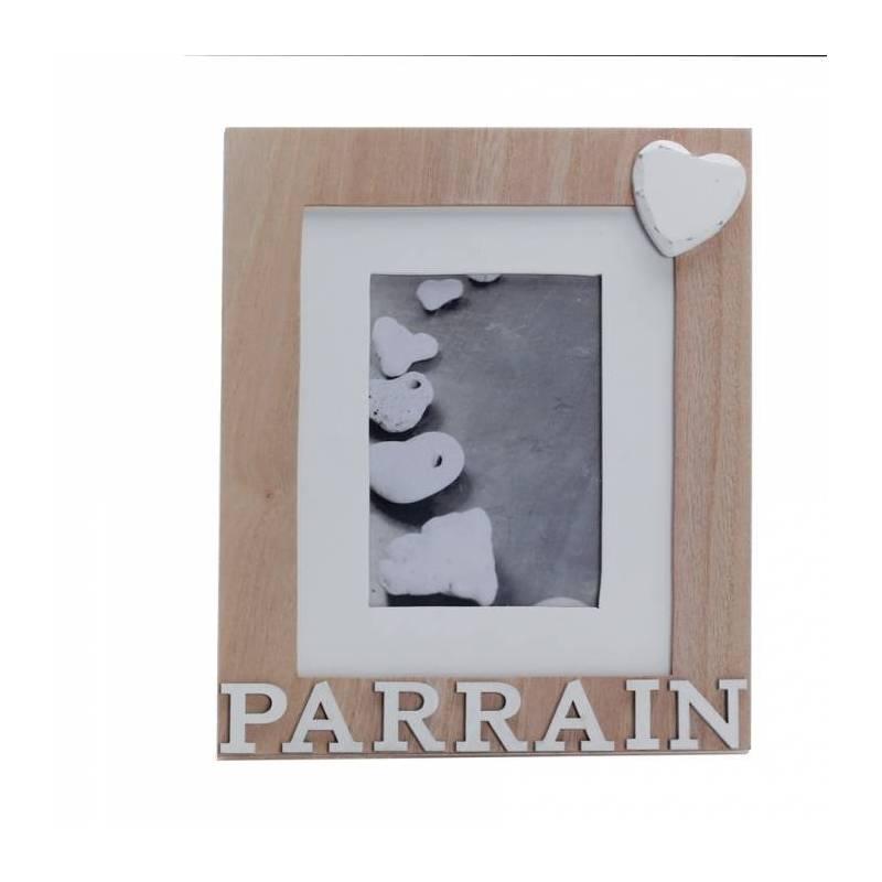 """Cadre """"Parrain"""" naturel 18h22cm"""