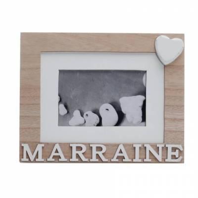 """Cadre """"Marraine"""" naturel 22h18cm"""