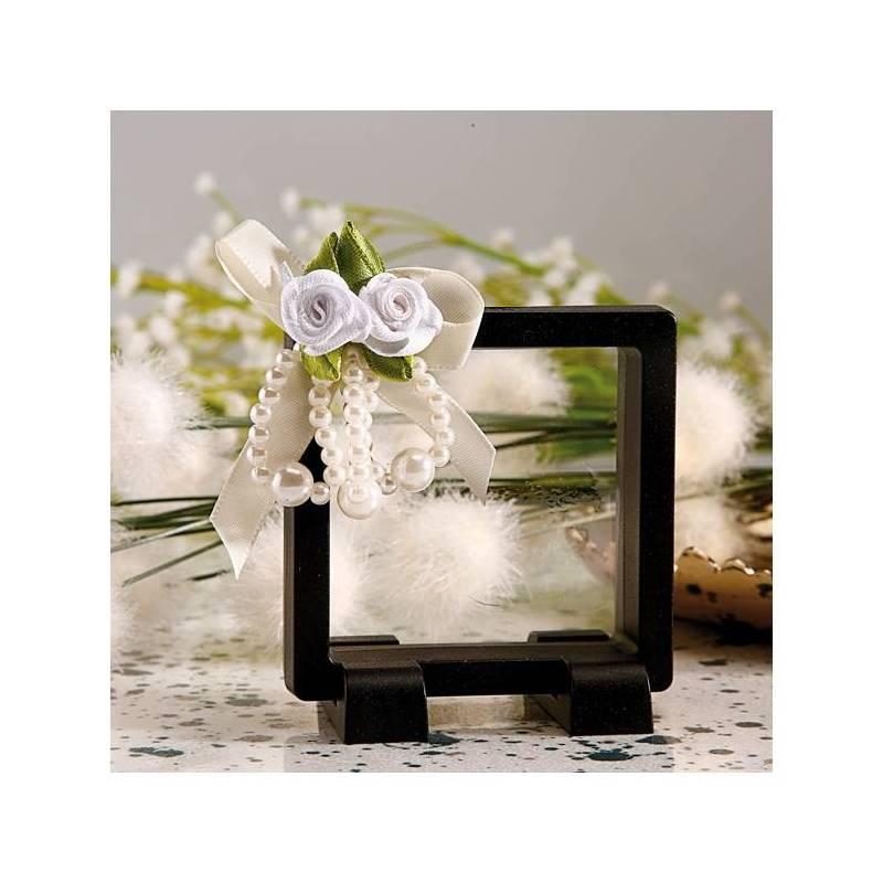 Cadre moderne noir n°1 7h7cm