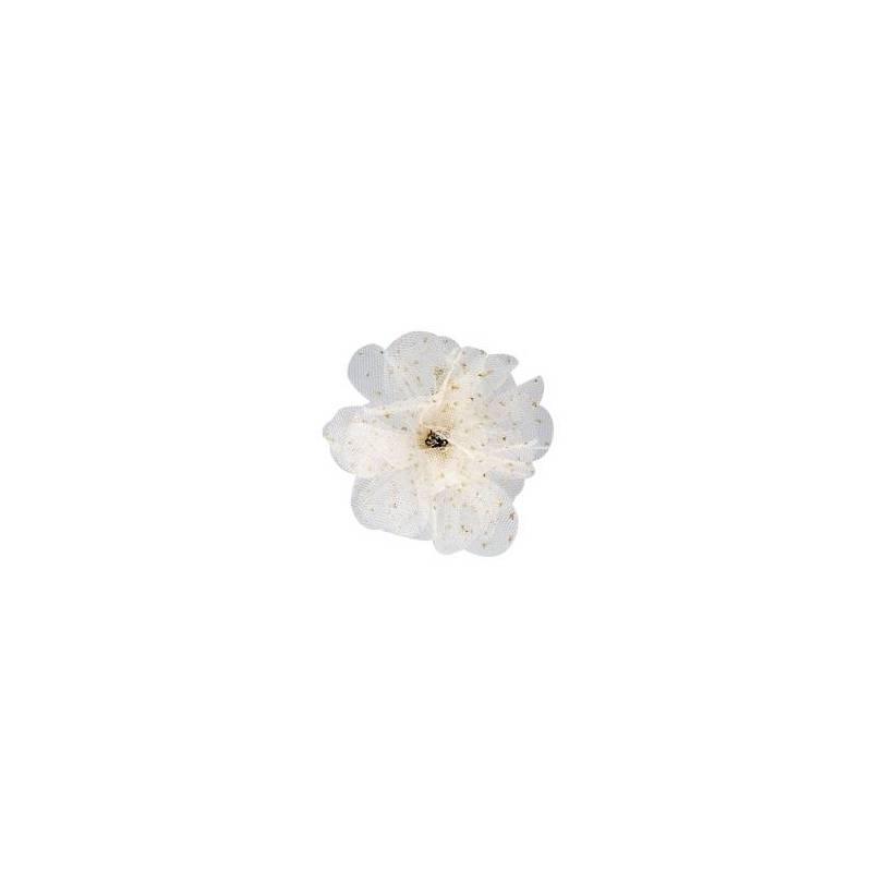 Clip fleur voile d6cm