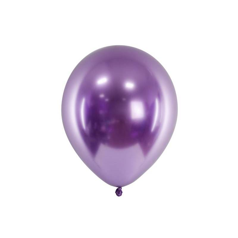 Ballons brillants 30cm violet