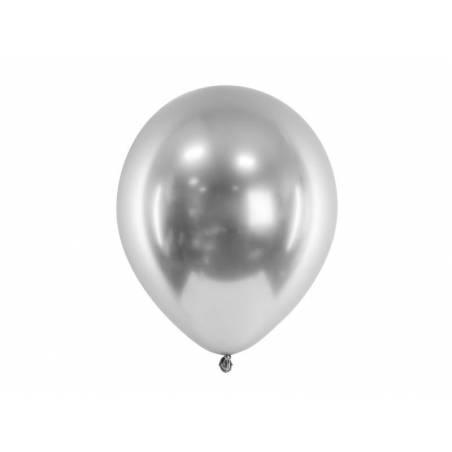 Ballons brillants 30cm argent
