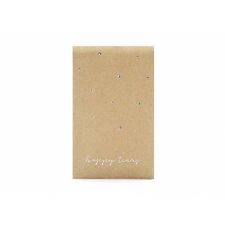 Mouchoirs de poche Happy tears argent 75x12cm